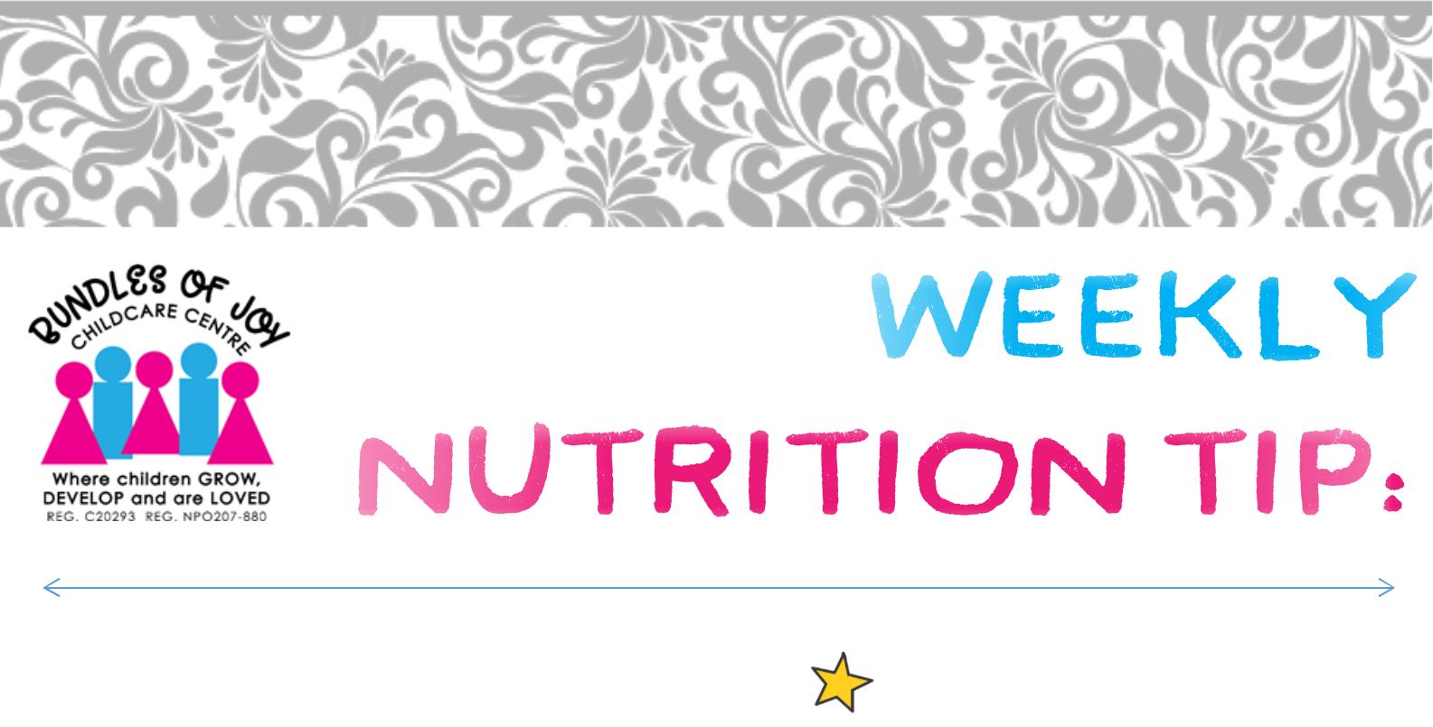 Week 1 Nutrition Tip